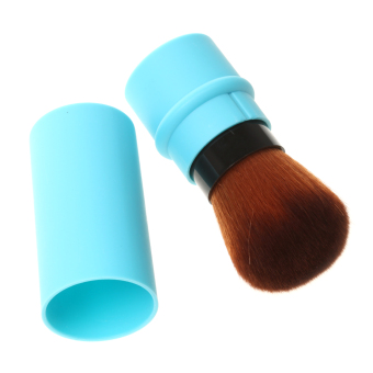 Harga BolehDeals Travel Retractable Blush Brush Powder Shadow Brush Facial Makeup Blue