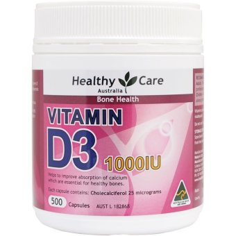 Harga Healthy Care Vitamin D3 1000IU - 500 kapsul