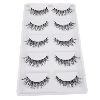 Harga 5 Pair/Lot Crisscross False Eyelashes Lashes Voluminous HOT Eye Lashes - intl