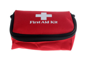 Emergency Survival First Aid Kit Pack Travel Medical Sports Home Bag (Red)