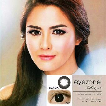 Harga Softlens Eyezone / Soft Lens Eye Zone Belle Eyes Made in Korea - Black / Hitam + Free Lenscase