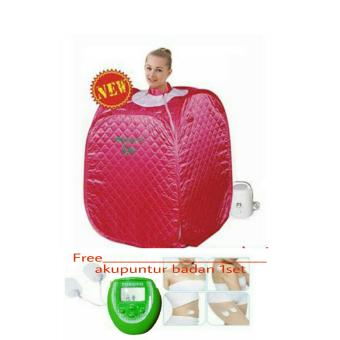 Harga HLJ Steam Sauna Spa Portable Beauty Spa Free Slimming massager(Akupuntur Badan) - Pink Tua