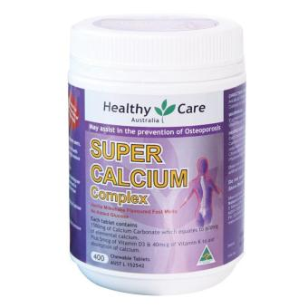 Harga Healthy Care Super Calcium + Vitamin D - 400 Tablets