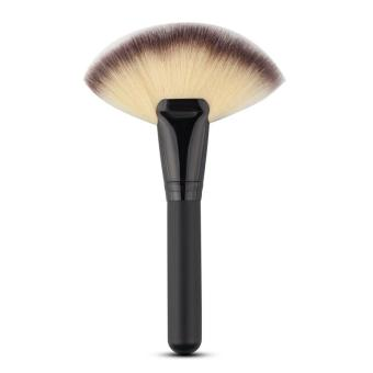 Harga Pro Fan Shape Makeup Brush Blush Powder Foundation Blending Cosmetic Brush Beauty Tools - intl