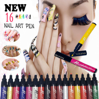 Harga La Vie Nail Art Pen 3D DIY Nail Polish Pen Paint Pen #16(Rose Gold)