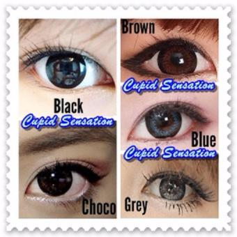 Harga Softlens Cupid Sensation Contact Lens - Blue + Free Lenscase