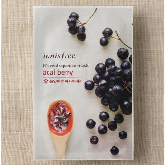 Harga Innisfree it's real squeeze mask - acai berry