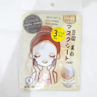 Daiso Tofu Whitening Mask Sheet - Masker Muka / Face Mask