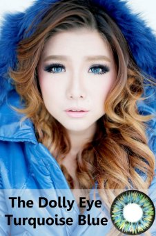 Harga Softlens Dolly Eye Glamour - Blue + Gratis Lens Case