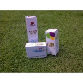 Harga PAKET MSI MULTY SPRAY, MSI FRUIT SERUM, MSI SABUN SUSU COLLAGEN