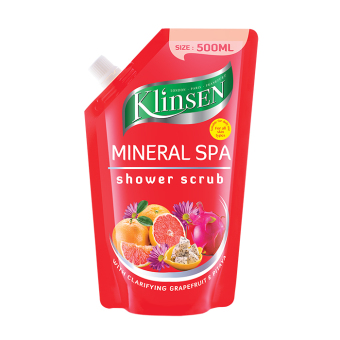 Harga Klinsen Shower Scrub - Mineral Spa - 500 mL