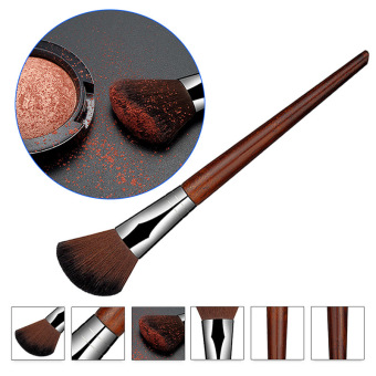 Harga La Vie Rosewood Angled Blush Brush Face Contour Blush Powder Makeup Tool(Red)