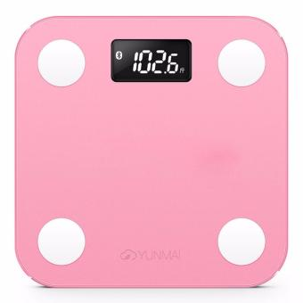Harga YUNMAI Mini Smart Weight Body Scale Digital Balance BMI Bluetooth Support IOS 7.0 & Android 4.3 Fat Scale(Pink) - intl