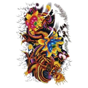 Harga Dragon Flower Design Cool Temporer Tattoo Stickers