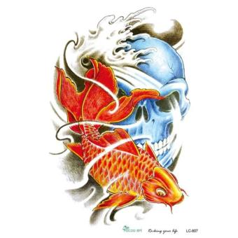 Harga Goldfish Body Arm Art temporary tatto for men and wowen