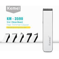 Kemei Mesin Cukur Rambut  KM-3590 Multigroom 5 in 1 Rechargeable Hair Clipper
