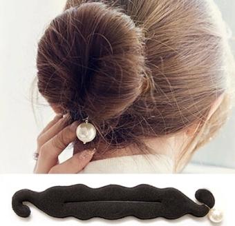 Harga Korea Fashion Style spons mutiara bola rambut disk kepala Murah