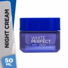 L'Oreal Paris Dermo Expertise White Perfect Melanin Vanish Night Cream Krim Malam Anti Aging - 50ml