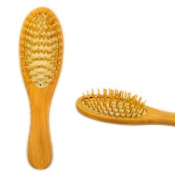 Harga La Vie bambu kayu ventilasi sikat rambut perawatan rambut dan kecantikan SPA pijat sisir 21 cm x 6 cm (Aprikot) Murah
