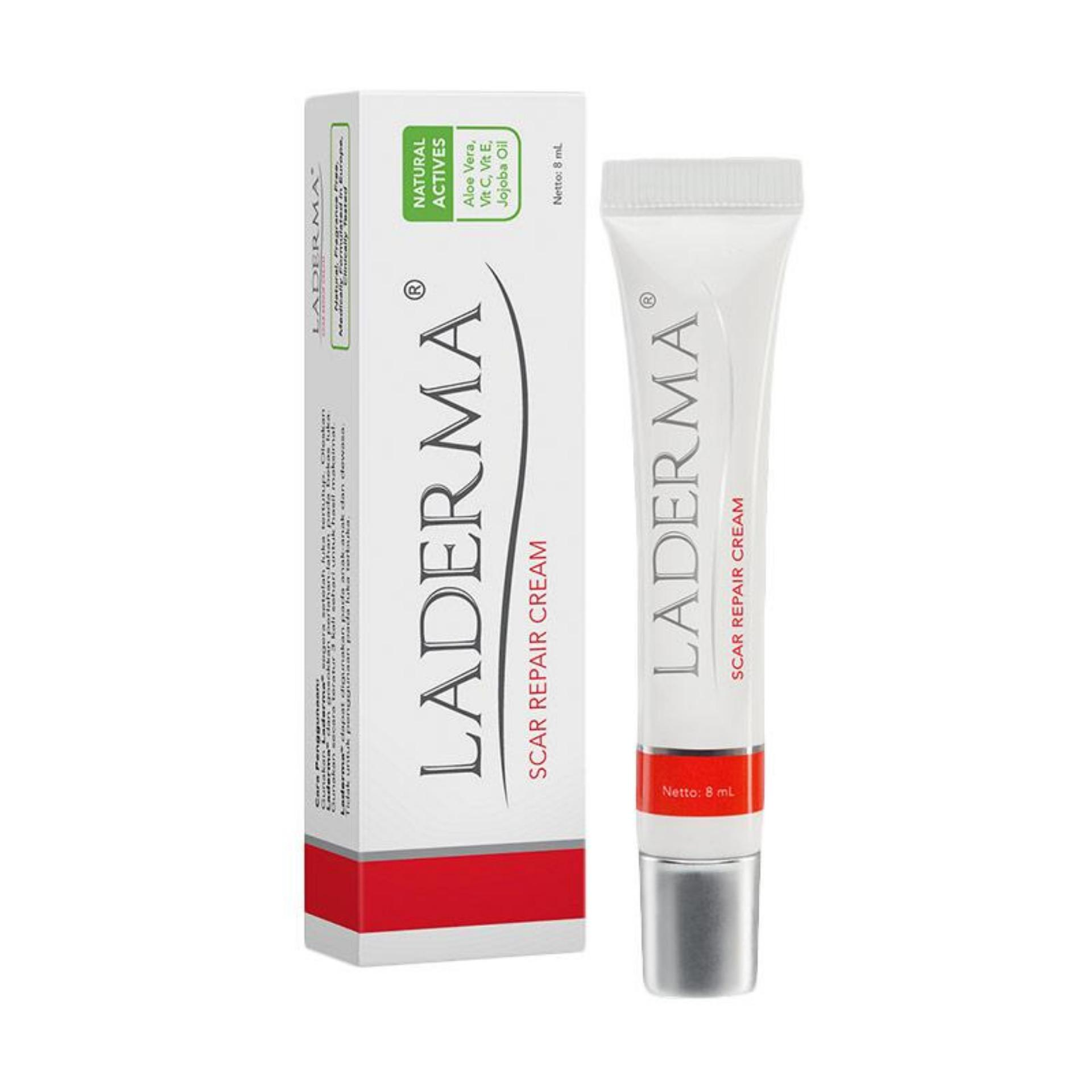 Laderma Scar Repair Cream - 8ml / Krim Penghilang Bekas Luka