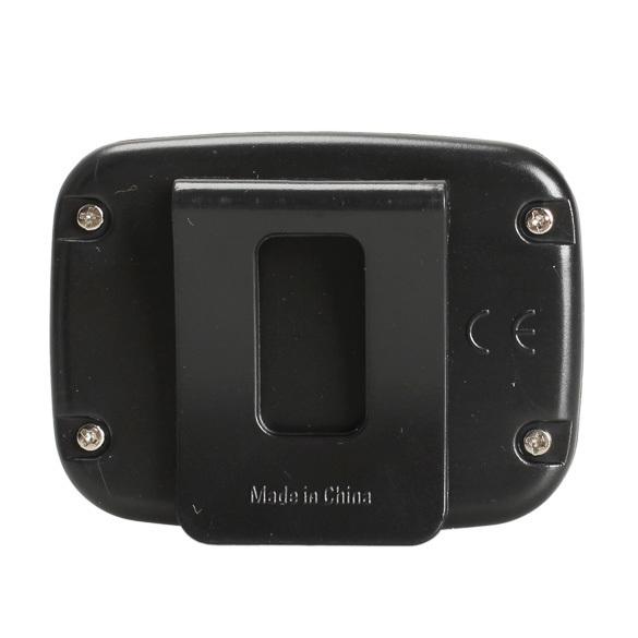 LCD Run Step Pedometer Walking Distance Calorie Counter Passometer Black .