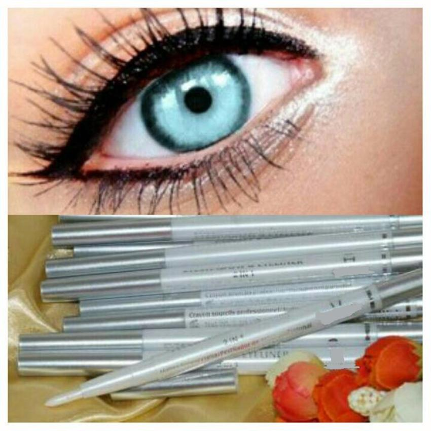 Lucky Pensil Alis Eyeliner & Eyeshadow 2in1 Silver 1 Pcs .