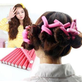 Lucu 10 buah batang rambut keriting Flexi udara rol rambutpengeriting efisien Reminder - International