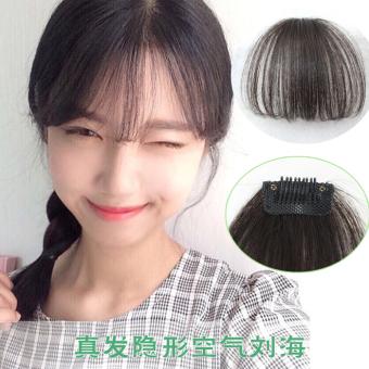 Harga Lucu pendek rapi poni klip pada klip di depan Bang rapi poni rambut ekstensi – cahaya hitam – International Murah
