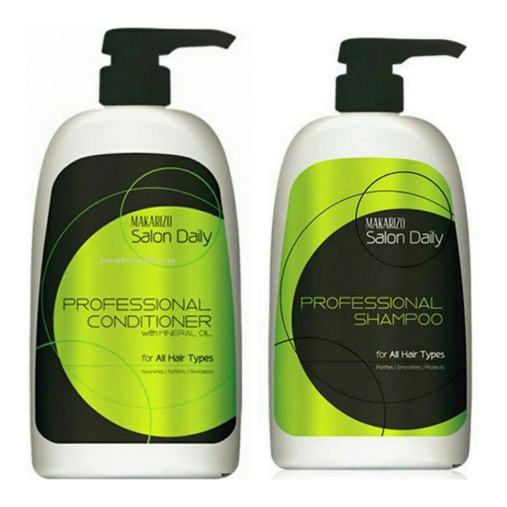 Periksa Peringkat Makarizo Salon Daily Profesional Shampoo 1000ml Hair Energy Shampo 330ml Fibertherapy Conditioner 950 Ml