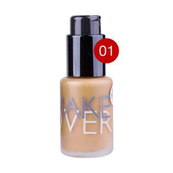 Make Over Ultra Cover Liquid Matt Foundation 01 Ochre - Kosmetik Make up Atasi Noda Foundation - 2