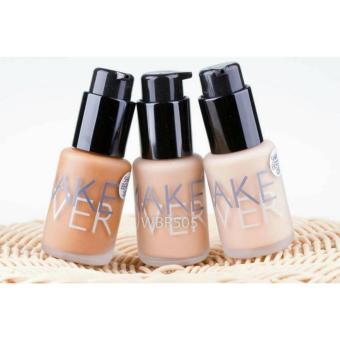 Make Over Ultra Cover Liquid Matt Foundation 01 Ochre - Kosmetik Make up Atasi Noda Foundation - 3