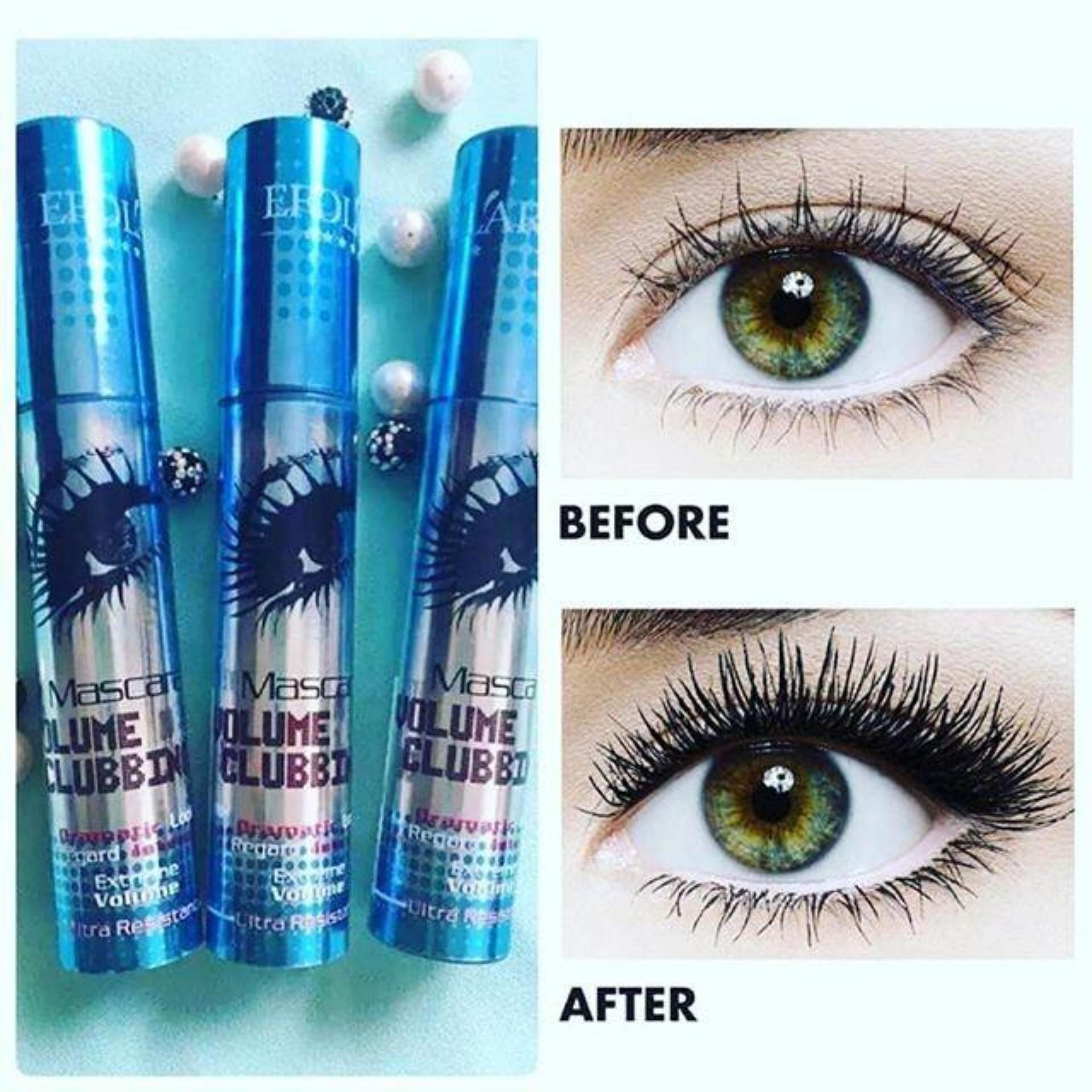 Pelacakan Harga Mascara Maskara Efolar Multiple Volume Clubbing Inez Lash Lengthening Black Waterproof Original