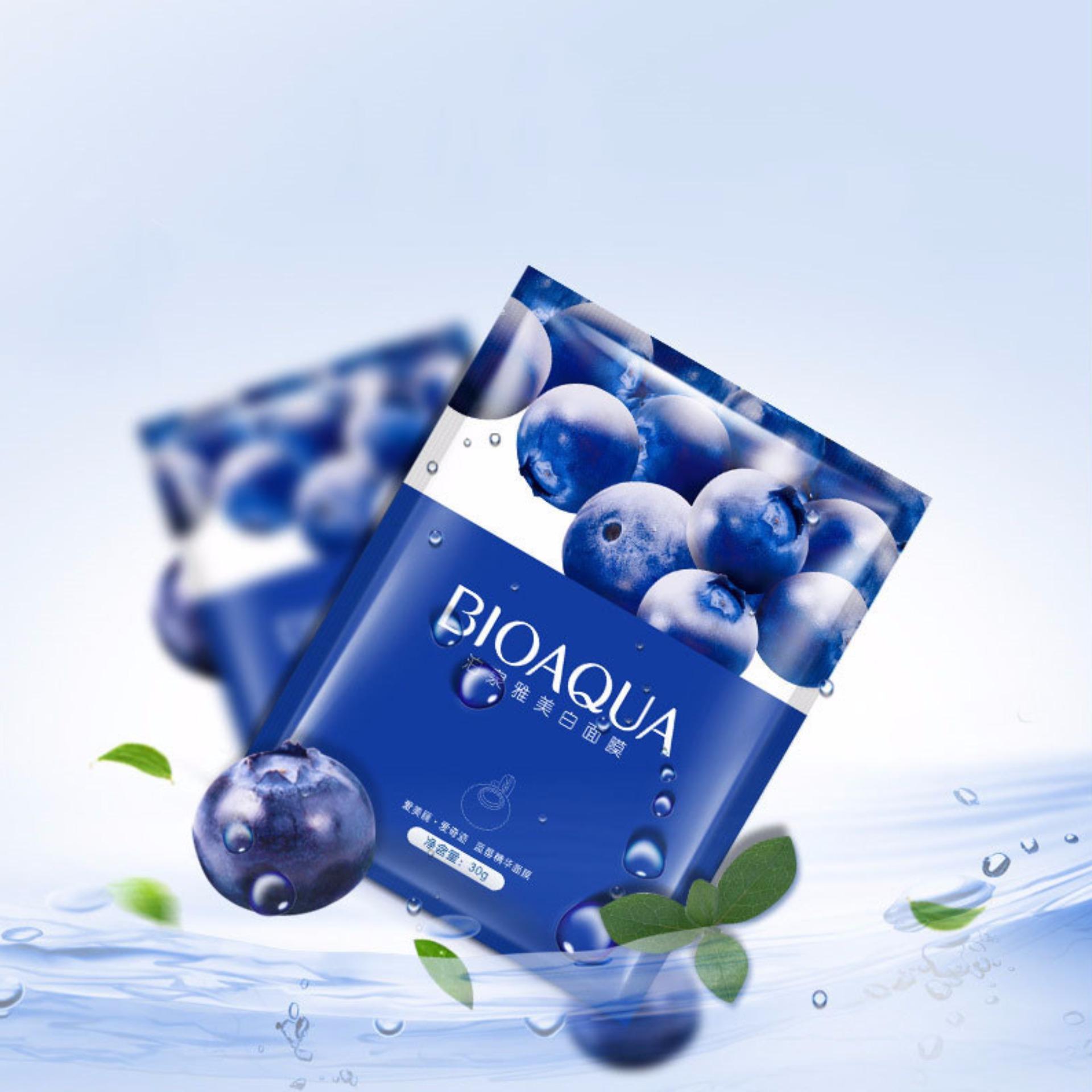 Bioaqua Fountain Spray 150ml Blueberry Penyegar Wajah2 Lihat Masker Tirus Wajah V Shaped Penirus