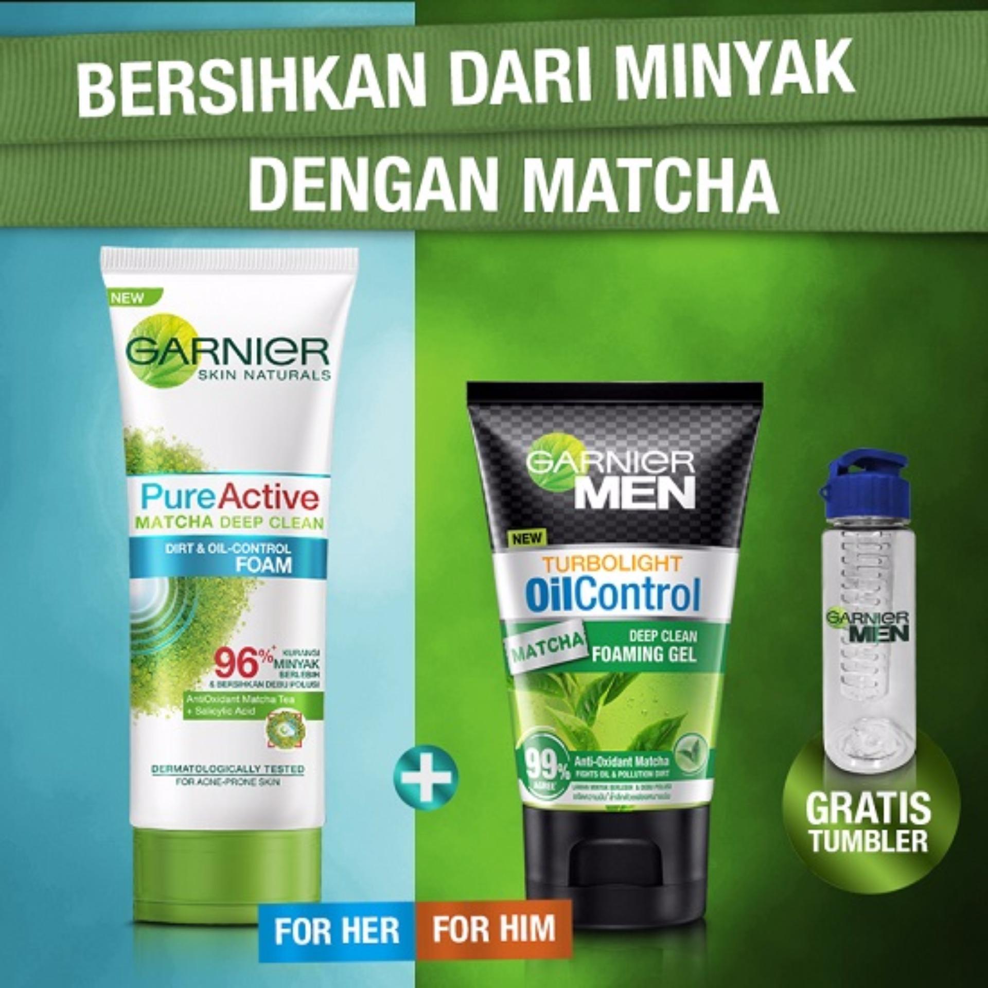 Diskon Penjualan Matcha Series Garnier Pure Active Foam Deep Clean 50ml Men Gel Berhadiah Tumblr