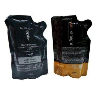 Harga Matrix Opti Straight Obat Pelurus Rambut Normal 1 paket / set -250ml Murah