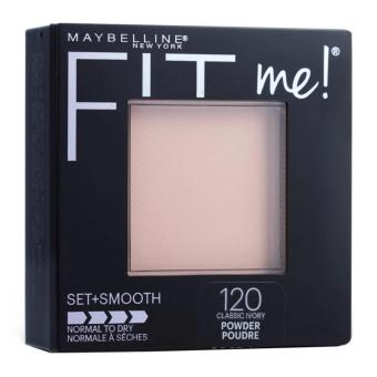 Maybelline Fit Me Set + Smooth Powder 120 Classic Ivory exp 2019