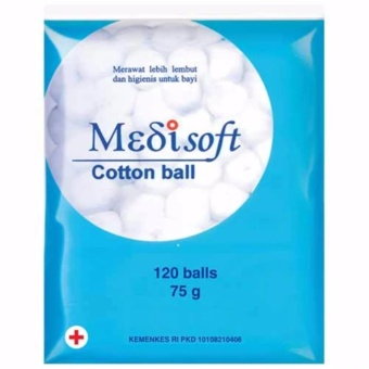 Medisoft Cotton Ball Kapas Bulat - 1 pack x 120 butir