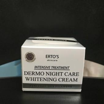 [ MEGILAN ] ERTOS NIGHT CREAM WHITENING - ERTO'S DERMO NIGHT CARE WHITENING CREAM / KRIM MALAM ERTOS / CREAM MALAM ERTOS