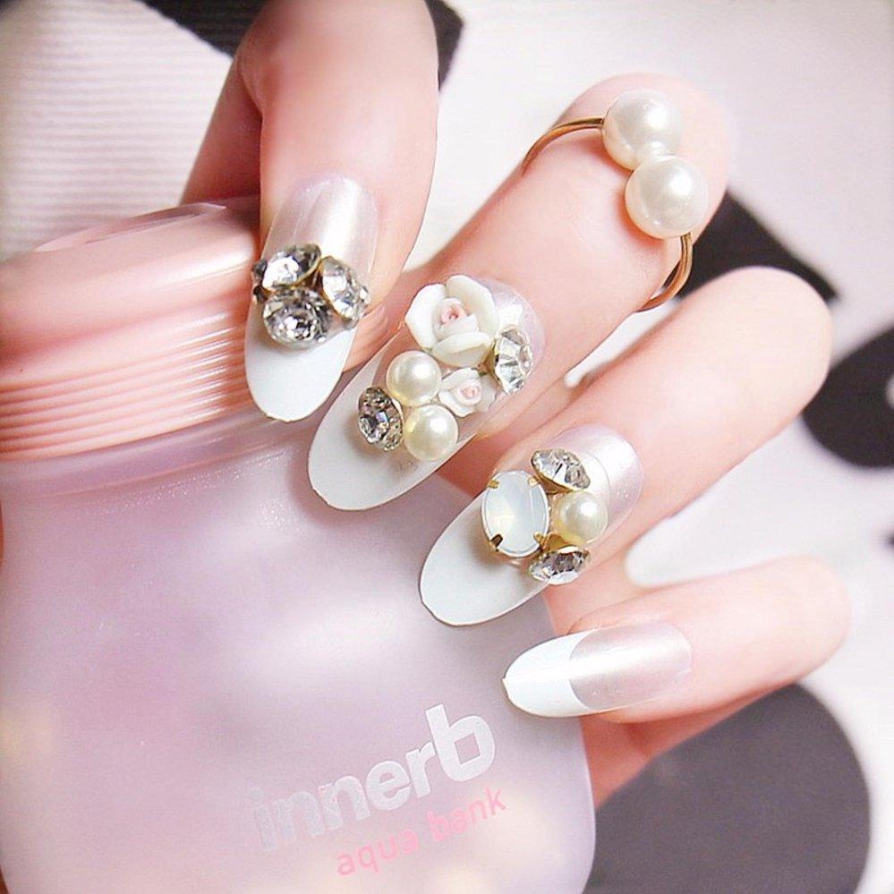 Mimosifolia Mewah Pengantin Kuku Palsu Berlian Imitasi Busana Pesta Jbs Nails Wedding Fake Nail Art 3d A18 Source Gaun Ulang Tahun