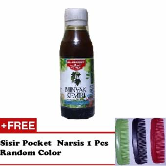 Minyak Kemiri Al Khodry Penumbuh Rambut 125ml + Free Sisir 1 Pcs