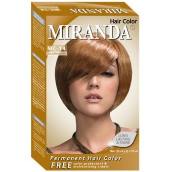 Harga Miranda Hair Color Mc14 – Golden Brown 30 Ml Murah