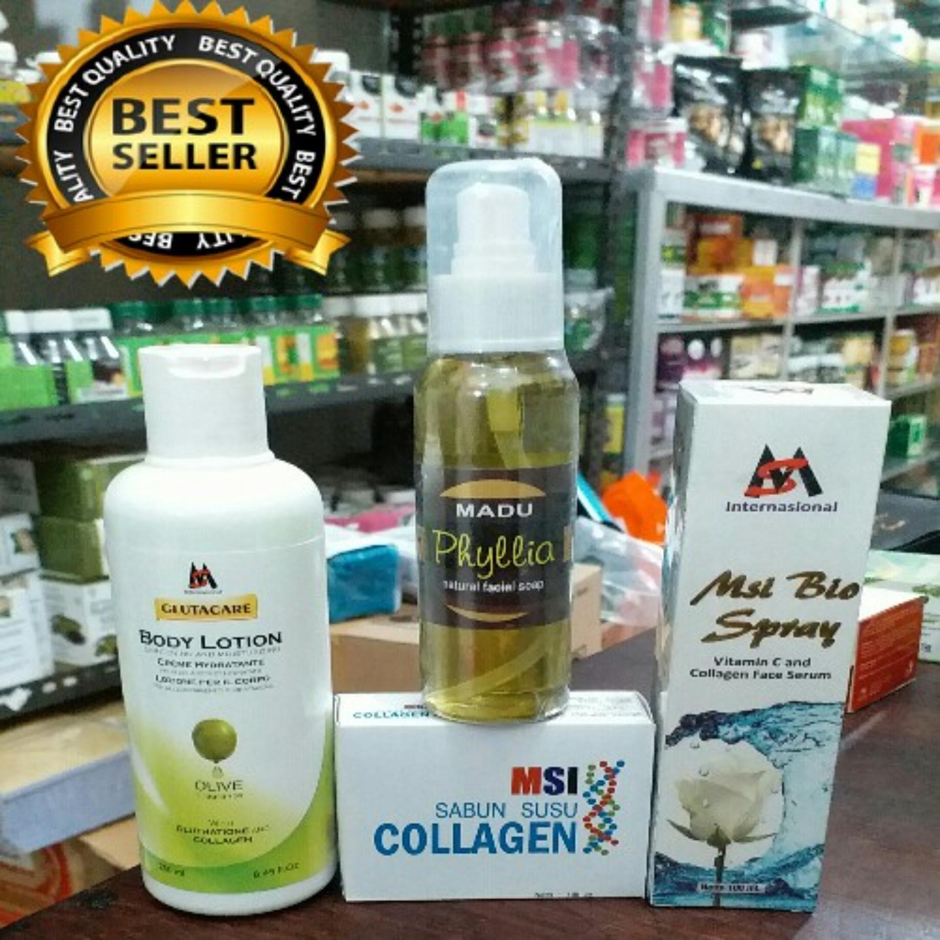 Flash Sale Msi Paket 4in1 Glutacare Bidy Lotion Bio Spray Biospray Sabun Collagen