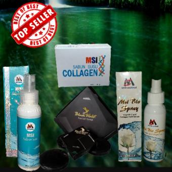 Msi paket black walet isi 3 buah +msi ion silvet +biospray msi +msi sabun collagen
