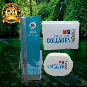 MSI PAKET #MSI SILVER ION SPRAY +SABUN MSI COLLAGEN