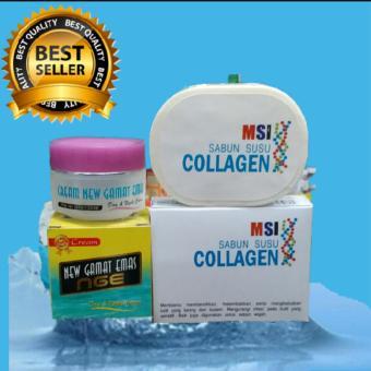 Msi sabun collagen +cream Gamat emas regenerasi kulit reaksi cepat dan maksimal