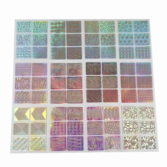 Nail Art Guide Sticker 3D PVC Colorful Stencil Hollow Decal Manicure Accessories - intl