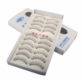 Natural Long 10 Pairs Thin False Eyelashes / Bulu Mata Palsu