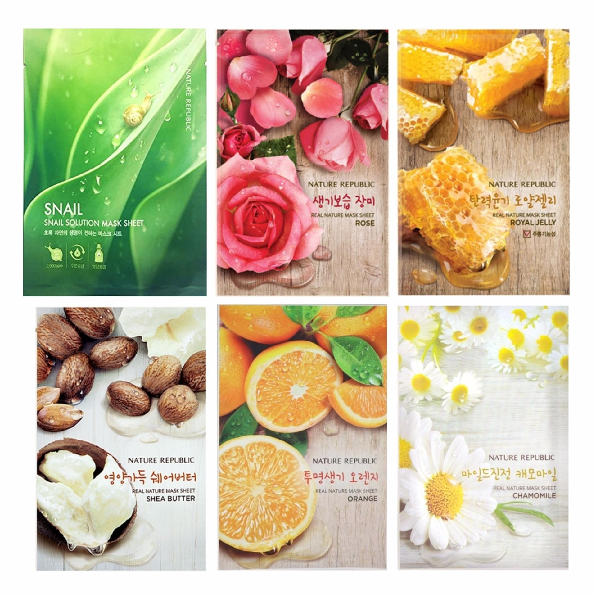 Harga Penawaran Nature Republic Mask Sheet Buy 5 Get 1 Free Masker Bundle C