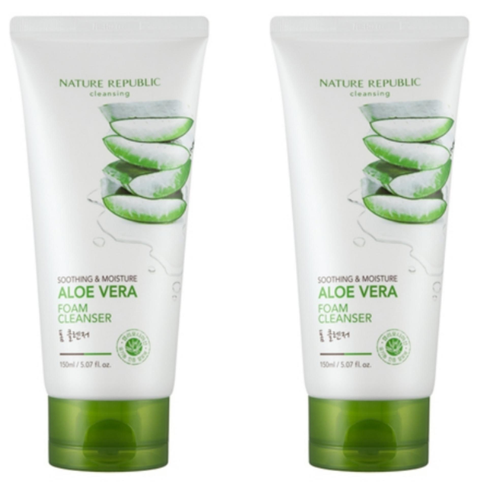 Pencari Harga Nature Republic Soothing Moisture Aloe Vera Foam Cleanser 150ml