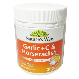 Natures Way Garlic, Vitamin C, Horseradish - 200 Tablet